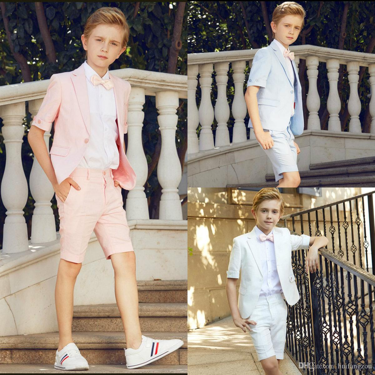 c50ecfe739cc6 2018 Summer Three Pieces Boys Clothes Handsome Custom Made Boys Formal  Suits Kids Formal Suit With Free Shipping