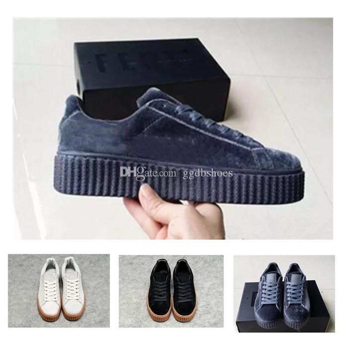 a4017ac88782 2018 Brand PUM9 Velvet Rihanna X Suede Creepers Women Men Fashion Cheap  Casual Shoes Sneakers 36-44 Rihanna Suede Creeper Rihanna Creeper Running  Shoes ...