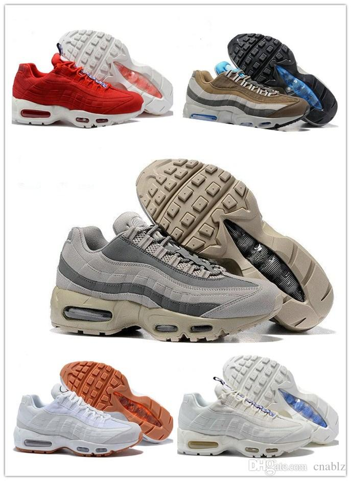 2018 Men Women Cushion 95 Running Shoes Authentic Sports Shoes For Men Women Top Sneakers walking Tennis Shoes Grey Man Training 36-45 buy cheap purchase under $60 footlocker pictures xSi9q