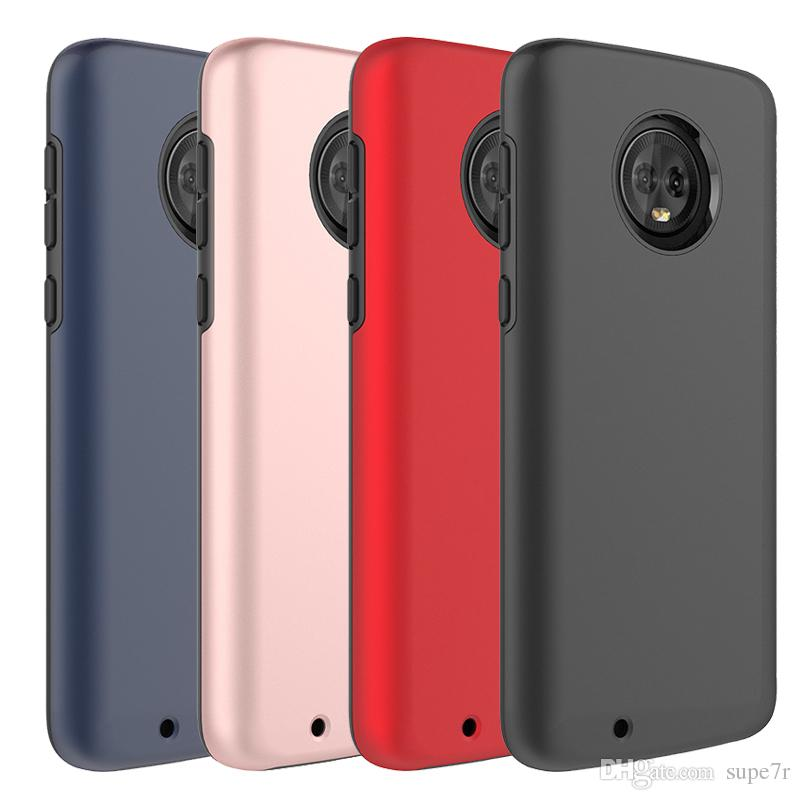 For Moto G6 Phone Case Tpu Pc 2 In 1 Shockproof Case Moto E5 G5 Plus Z3  Play Lg G6 Back Cover Cases