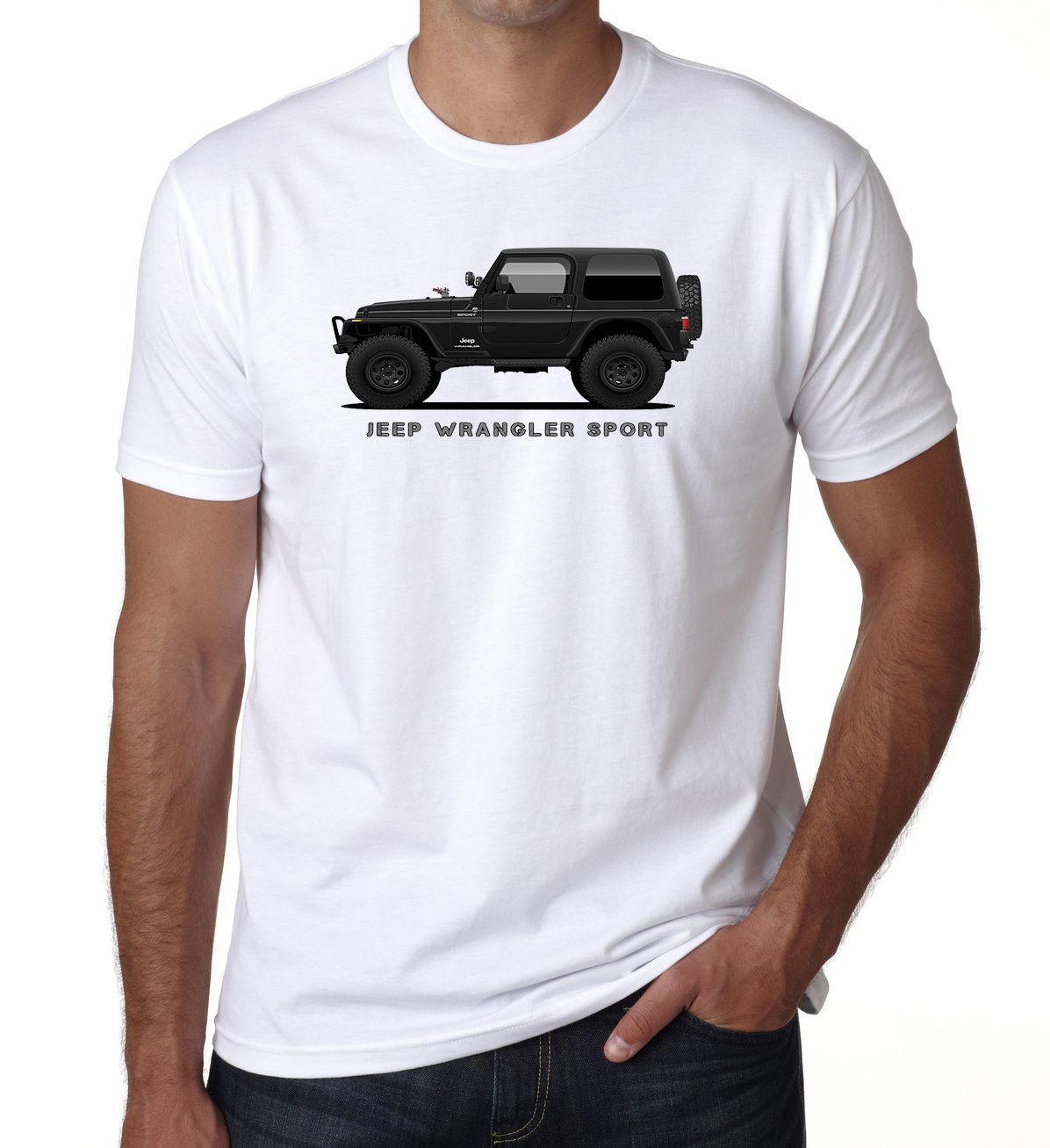 Car T Kids Jeep Cross Wrangler White 4 Country Sports Shirt Mens X LSUqjMpzVG