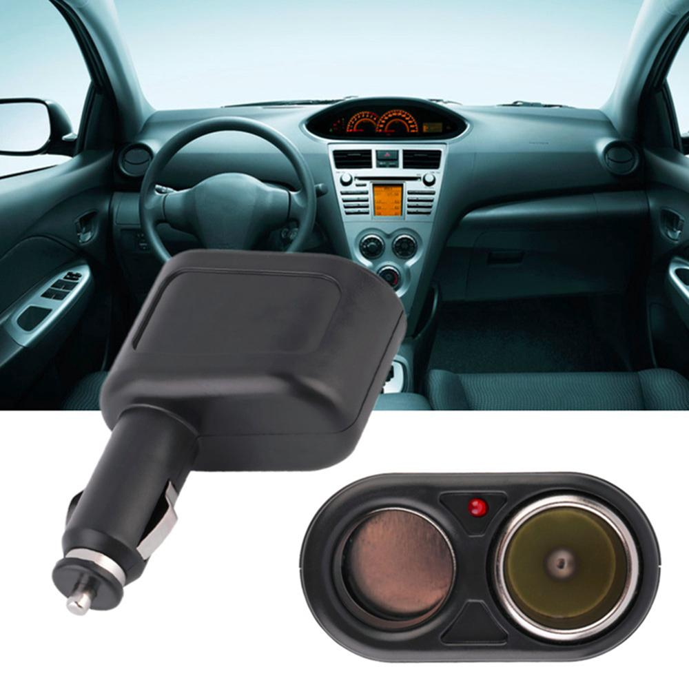 12V DC Dual USB Car Charger Cigar Cigarette Lighter Double Power Socket Splitter Universal Car Kit DDA367