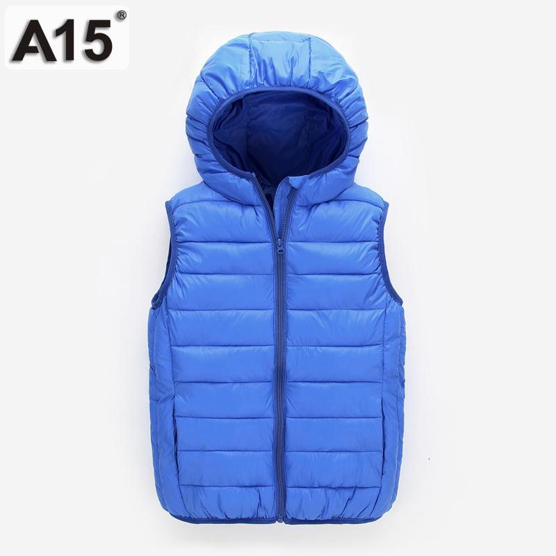 a98f48aa971 A15 Kids Winter Jackets Boys Light Duck Down Jacket For Girls Coat Teenage  Hooded Vest Children Clothes Big Size 8 10 12 14 Year Y18102607 Children  Jackets ...