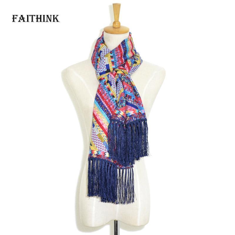 Acheter faithink 2018 Nouvelle Mode Femmes Rainbow Foulard Écharpe De Luxe  Marque Printemps Et Été Cape Voyage Fantaisie Ponchos Et Capes De  28.95 Du  W245 ... eb2140f2908