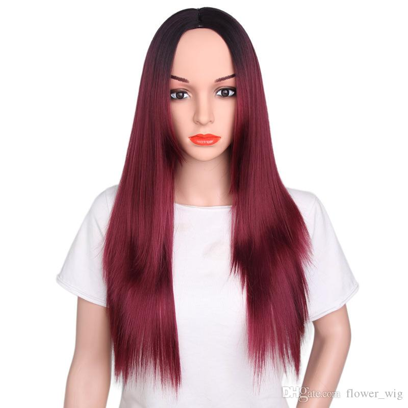 2018 new 100% pretty beauty unprocessed virgin remy human hair burg sexy colorful natural straight full lace wig for women