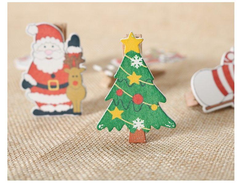 Decorazioni In Legno Per Albero Di Natale : Acquista decorazioni natalizie clip di legno albero di natale
