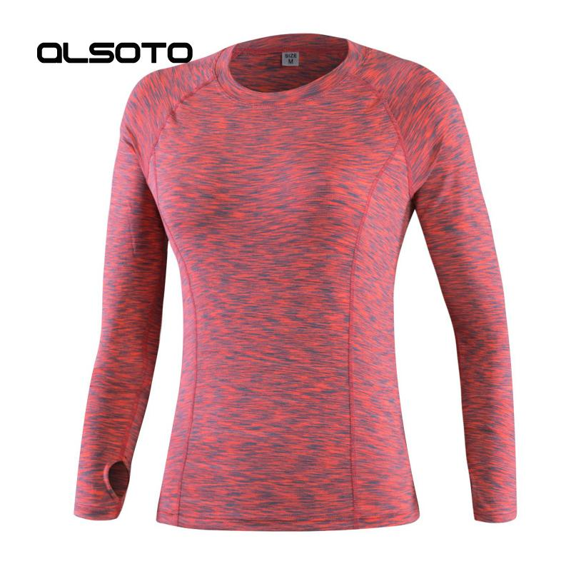 f1a1126b91c Women Sports T-Shirt Tight long-sleeved running training fitness for ladies  Quick-drying Elasticity Gym Joggers sportswear