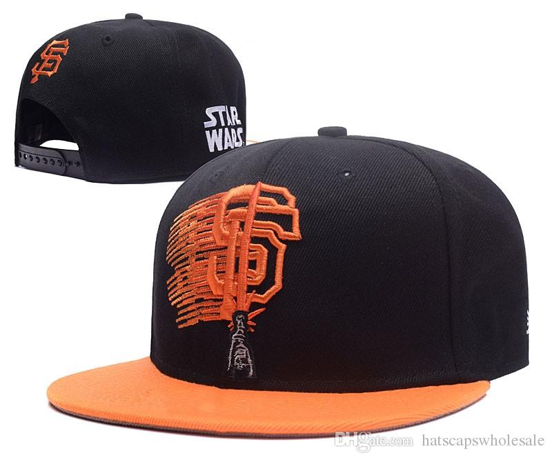 491e0450a5c New Arrival Giants S Wars Series Snapback Hats Black Orange Embroidered SF  Letter Team Logo Brand Hip Hop Sports Baseball Adjustable Caps Customized  Hats ...
