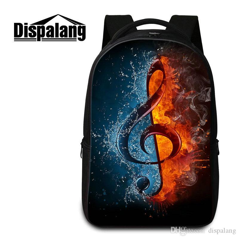 Brand Designer Laptop Backpack For College Student 3D Musical Note Printing  Women Travel Shoulder Bag Backpacks Personalized Design Rucksack Rucksack  ... 9a258bcce7946