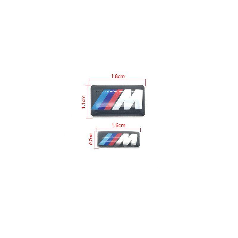 100 قطعة / الوحدة m صغير الزخرفية شارة محور قبعات عجلة القيادة لسيارات bmw m الرياضة m3 m5 x1 x3 e46 e39 e60 e90 f36 سيارة شعار ملصق
