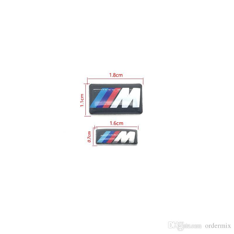 / M petit badge décoratif Hub caps volant pour BMW M Sport M3 X1 X3 E46 E39 E60 E90 F36 autocollant emblème