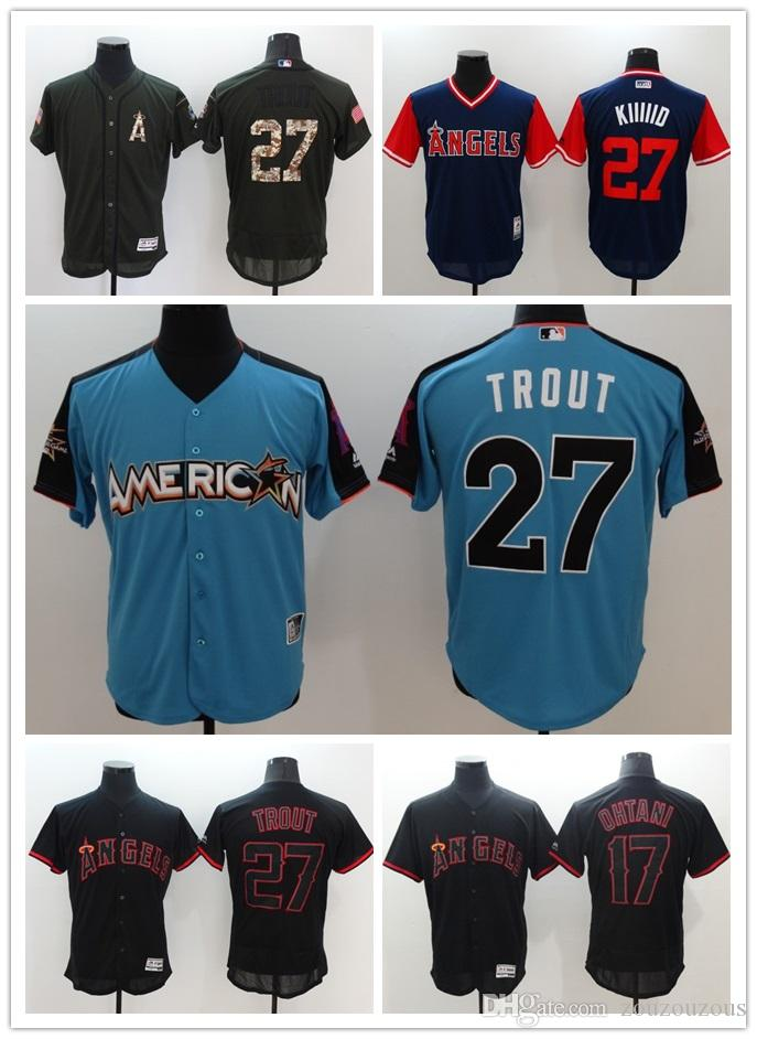 Men S Los Angeles Angels Of Anaheim Mike Trout  27 Baseball Jerseys 100%  Stitched Logos Flex Base White Red Size S XXL UK 2019 From Ddaling a75270c3c