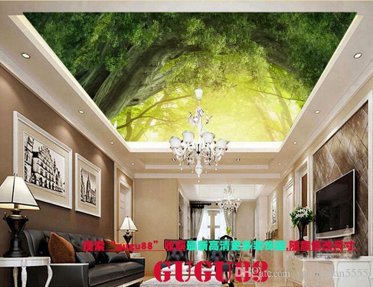 Hervorragend Großhandel Gewohnheit 3d Stereoskopische Tapete 3d Decke Waldhimmel Taube  Dekoration Malerei Decke Wandbilder Tapete Für ... 3 D Von Yeyueman5555, ...