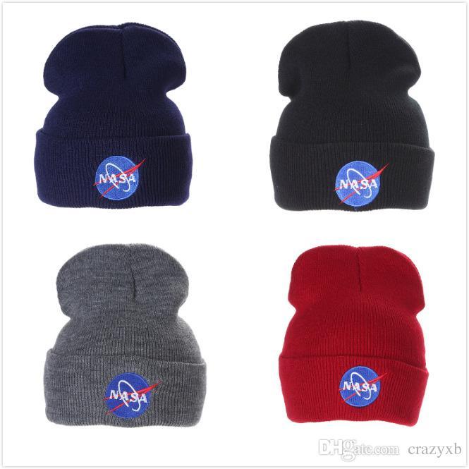 Großhandel NASA Strickmütze Winter Warme Beiläufige Acryl Slouchy ...