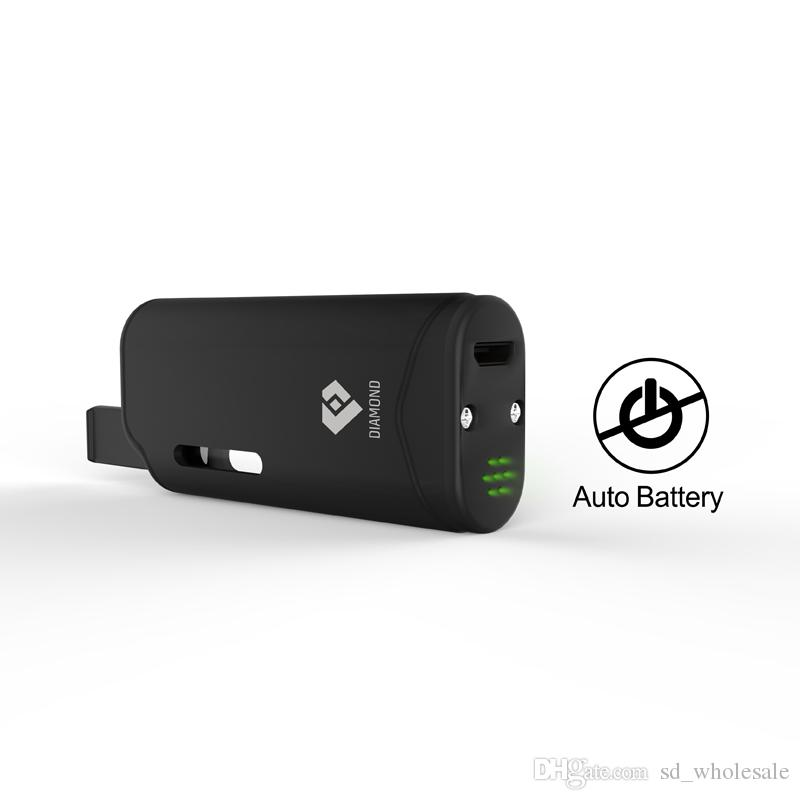 100% Original Airis Diamond V11 Vaporizer Kit 280mAh Auto Battery Mod With G2 Thick Oil 510 Cartridges Portable With Display Case