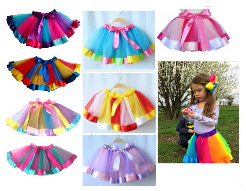 589fdffd5 2019 Kids Rainbow Colorful TUTU Skirt Dress Children Girls Dance Wear  Dresses Ball Gown Ballet Pettiskirt Performance Party Wedding Clothes 2018  From ...