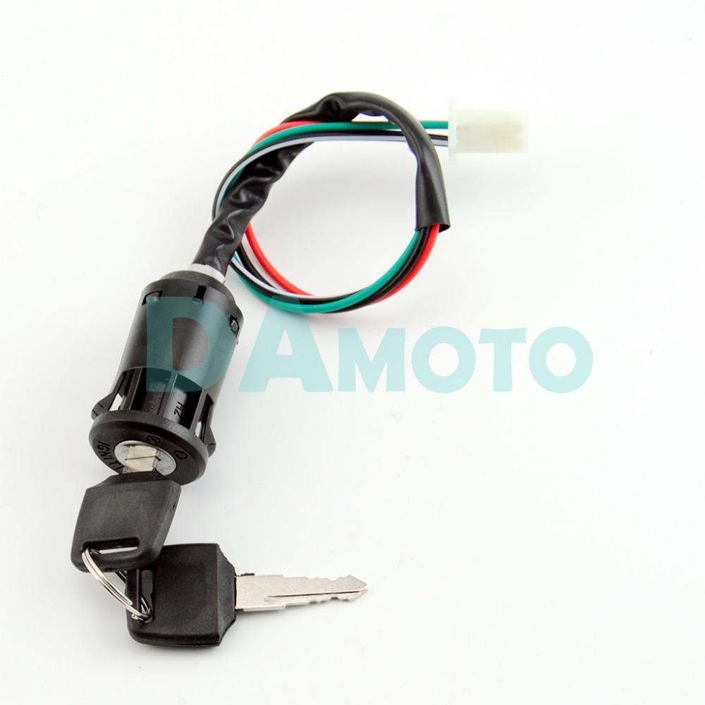 Wondrous 4 Wire Ignition Key Barrel Switch 50Cc 110Cc 125Cc 250Cc Pit Quad Wiring 101 Mecadwellnesstrialsorg