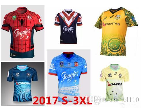 b356566cbb5 2019 New Top 2017 Australia Rugby Jersey Rugby Shirt Football Maroons Men S  XXXL 2018 17 18 SThai Quality NRL National Rugby Sydney Roosters 3XL From  Lol110 ...