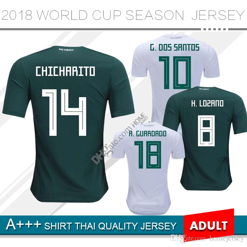537372bbea4 2018 World Cup Mexico Soccer Jersey 18 19 Home CHICHARITO Camisetas ...