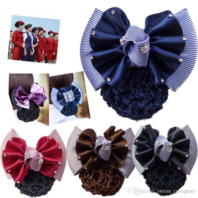 Bow Women Hair Snood Cover Bun Net Hair Clips Hairpins Hair Accessories for Women Girl Wedding Barrettes Headwear