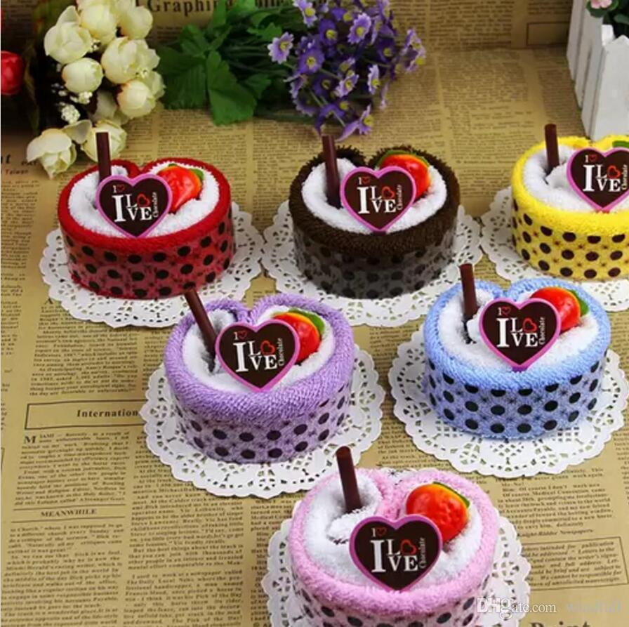 Colourful Fruit Cake: Colorful Cake Towel Strawberry Fruit Cake Towel As Gift
