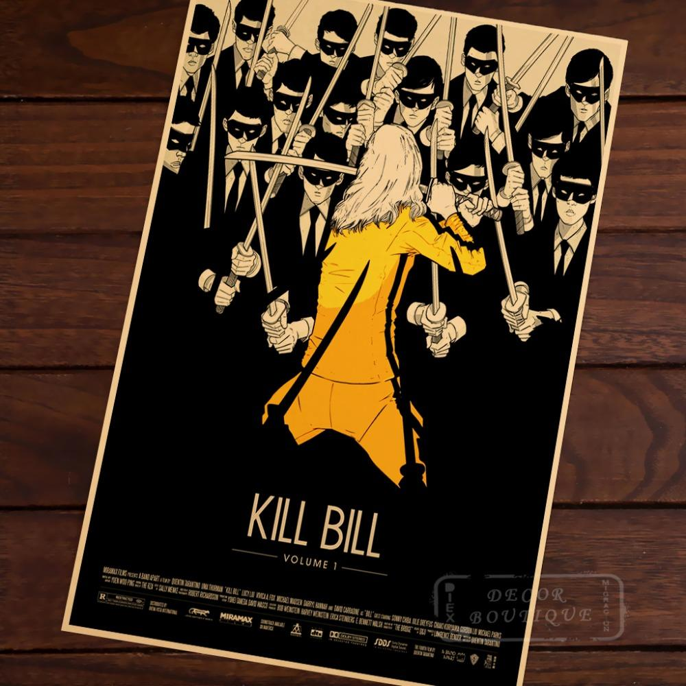 Kill Bill Faced With Killers Vintage Retro Decorative Poster Diy