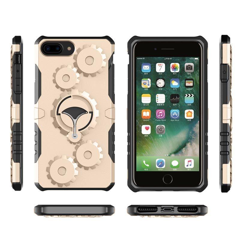 6ceb46c523a Accesorios De Celulares Para APPLE IPhone 7 Plus 8 Plus Diseño De  Engranajes De Moda KickStand Heavy Híbrido Armadura Cubierta A Prueba De  Golpes Funda De ...