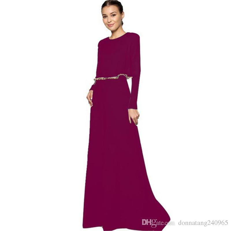 Mode Cape Poncho Hals Muslim Kleid Große Größe Dame Chiffon Islamische Frauen Lange Lose Kleider Dubai Nahen Osten Arabischen Abaya