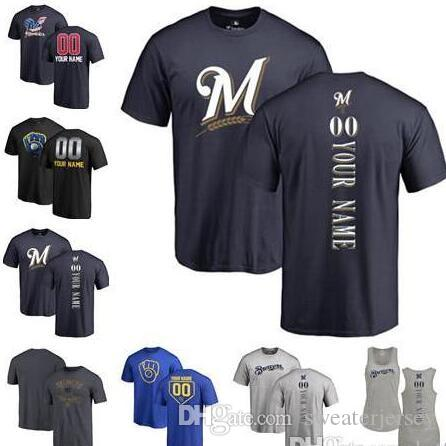 9a1355e2 Brewers Jersey Custom Men's women Youth Brewers Baseball T Shirt  Personalized Name and Number T-Shirt Tri-Blend Tank Top Jerseys