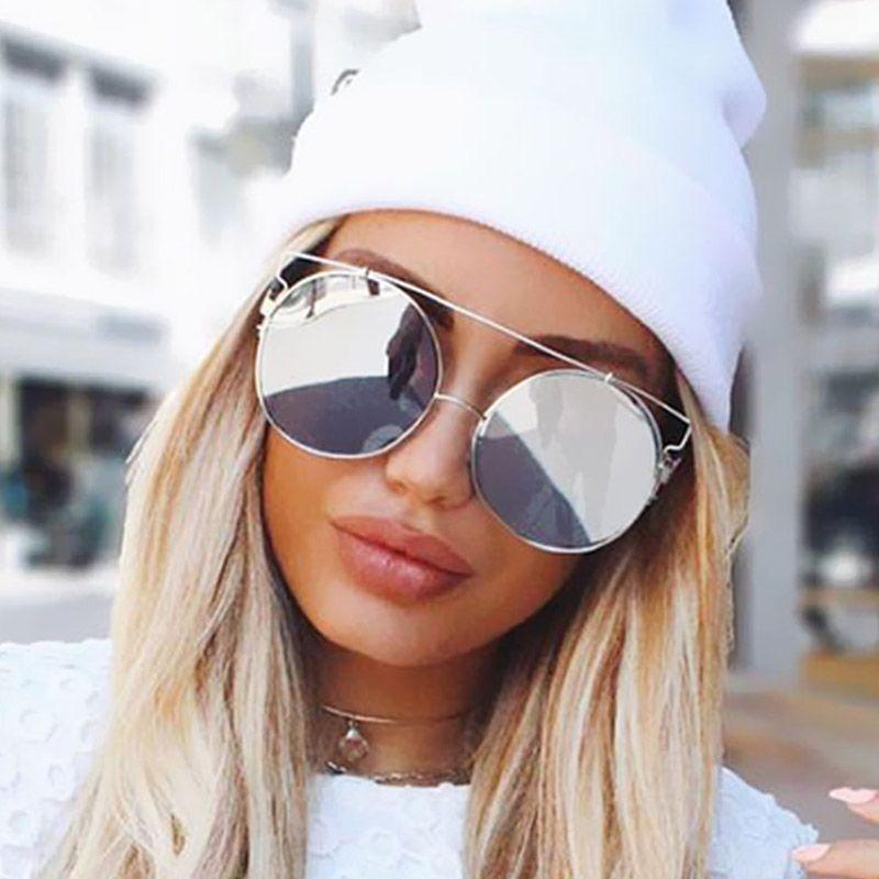 9e50e90b421 Big Round Sunglasses Women Luxury Brand Designer Circle Sun Glasses  Oversized Mirror Shades 2018 New Female Oculo De Sol Glasses Frames Glasses  Online From ...