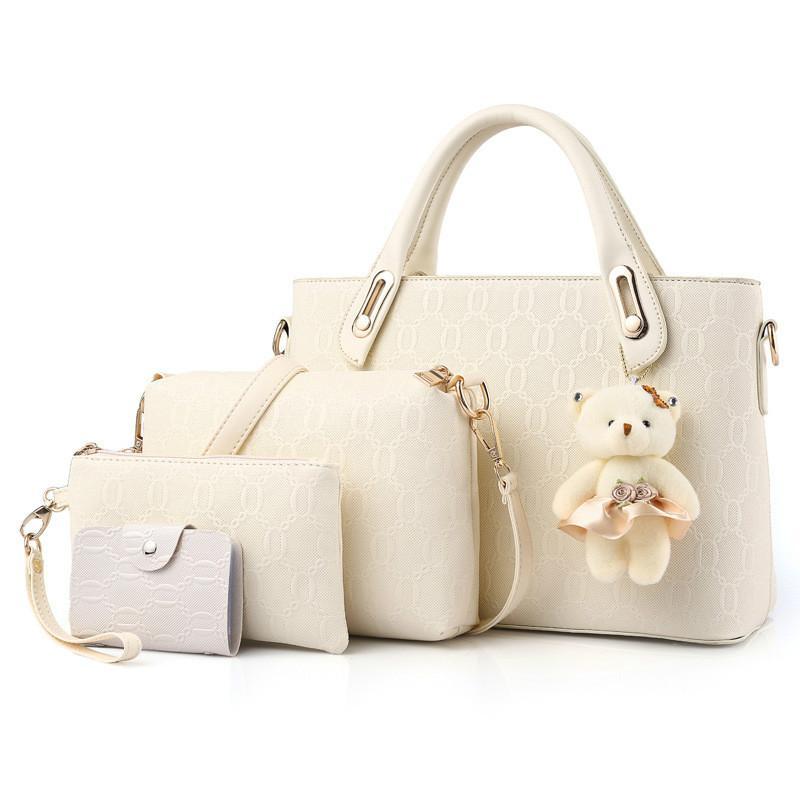 1bb2f612171 MONNET CAUTHY Bags Women Concise Elegant Office Ladies Fashion Composite  Totes Solid Color White Black Red Blue Female Handbags White Handbags  Wholesale ...