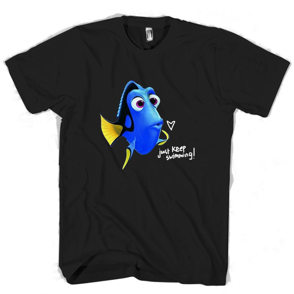 2d9f4016 Finding Dory Just Keep Swimming Men's / Women's T Shirt knitted comfortable  fabric top Quality Cotton street style men t-shirt