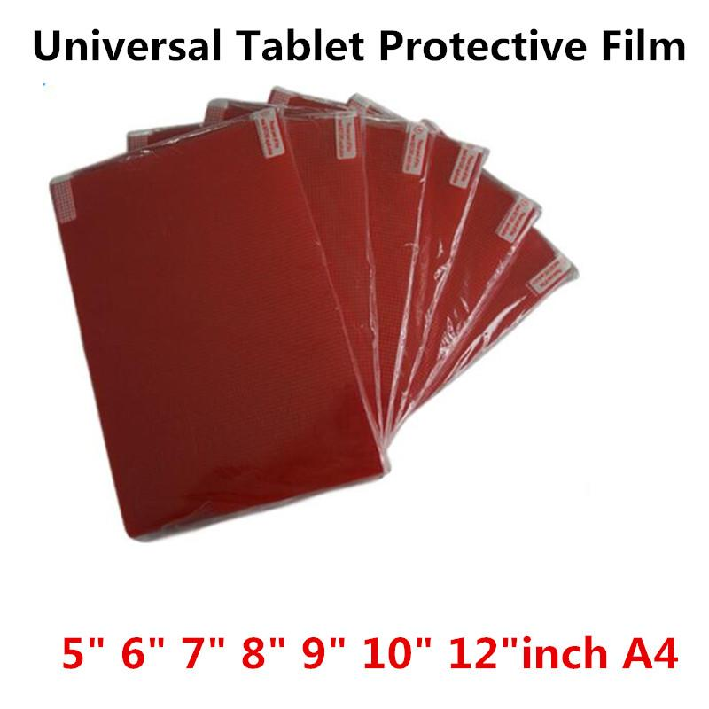 Clear Soft Tablet PC Screen Protector For Universal 5.0 6.0 7.0 8.0 9.0 10 12 inch A4 Car GPS General Toughened Protective Film