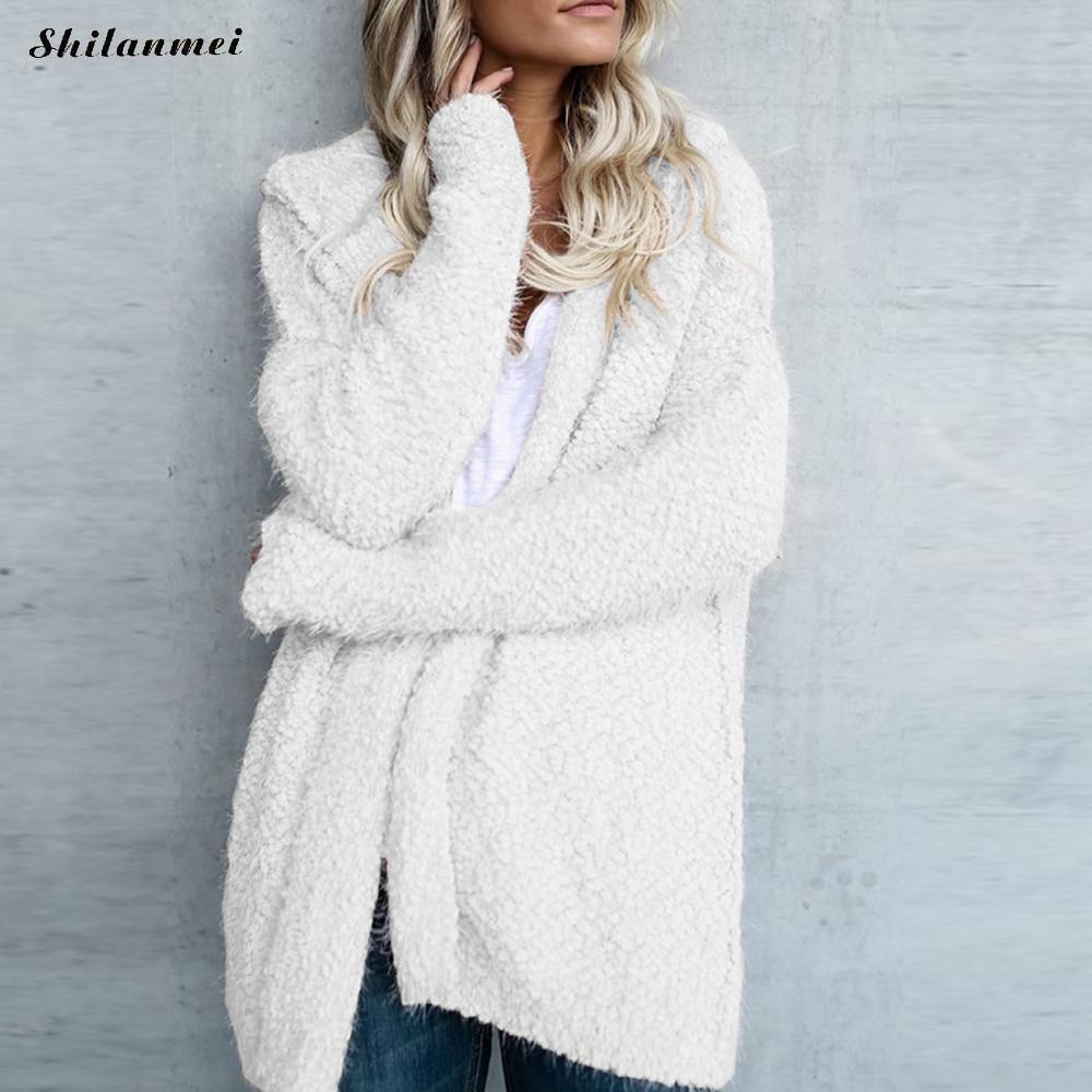 908029476 Femmes Fluffy Mohair Long Cardigans Automne Hiver Point Ouvert Poncho À  Tricoter Pull Cardigans Surdimensionné Cardigan Veste Manteau
