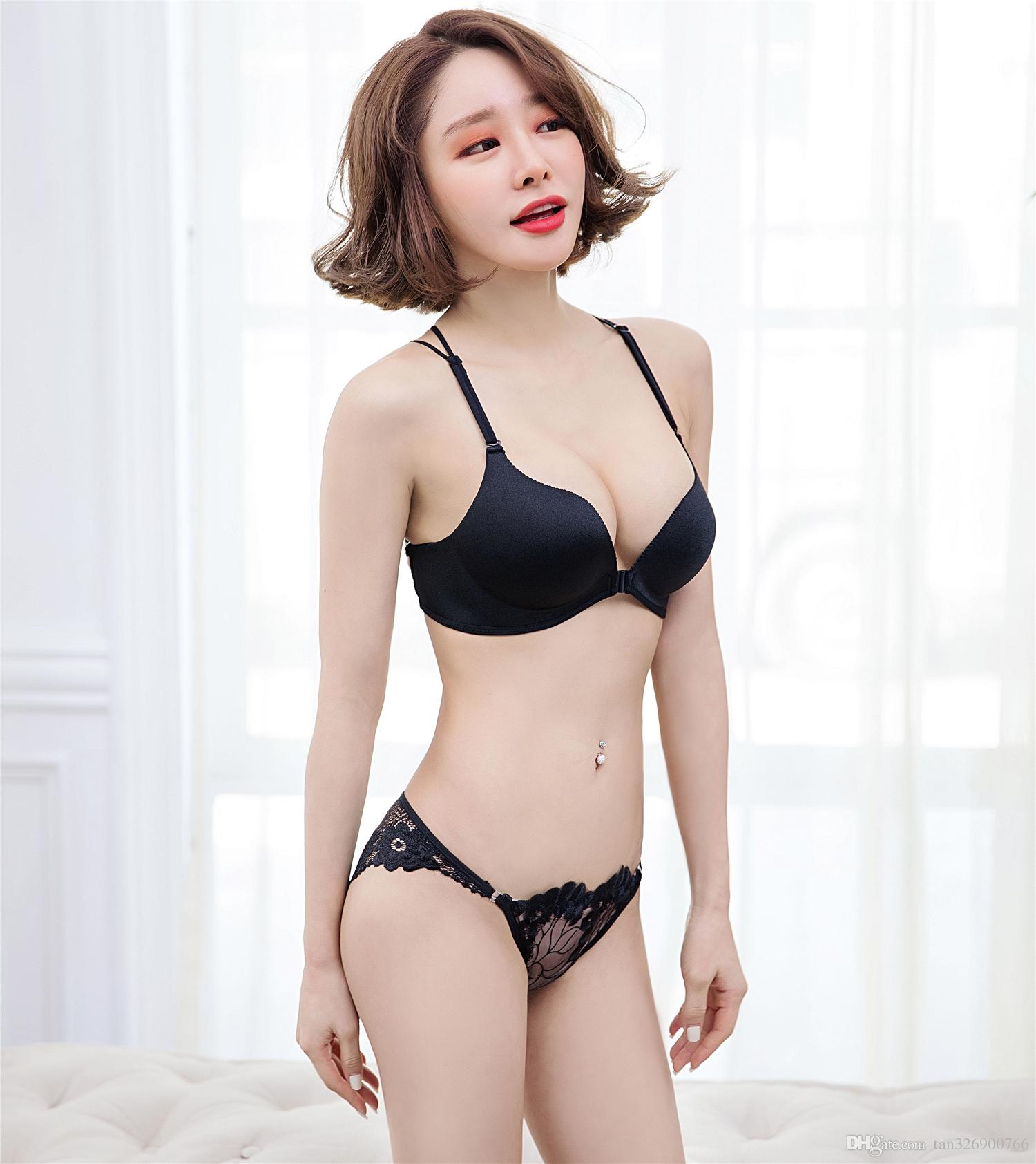 acea709fbf 2019 One Piece Seamless Rimless Bra Brase Gathered Underwear Without Traces  Of The Palm Cup Glossy Concentrated On The Back Of The Sexy Back Bra From  ...