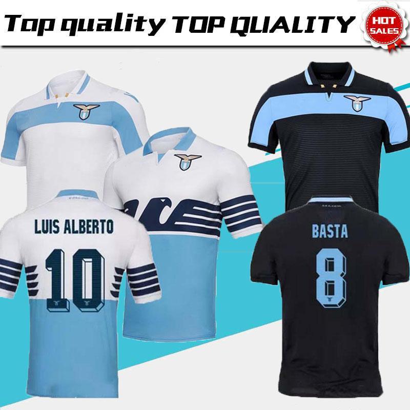 e7c4811498 Compre 2018 New Lazio Home Camisolas De Futebol 18 19 Away F.ANDERSON LUCAS  KISHNA BASTA JORD JEVIC KEITA IMMOBILE LULIC Camisas De Futebol Uniforme De  ...
