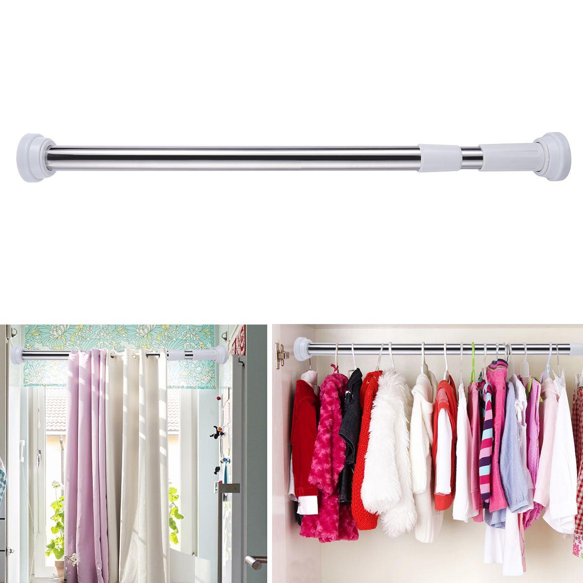 Discount Stainless Steel Bathroom Shower Curtain Rod Adjustable ...