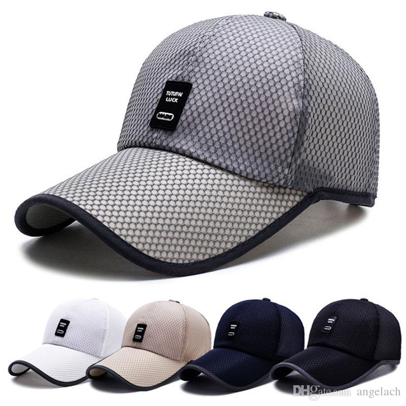 8df724e2599 Summer Sun Hat for Men Adjustable Baseball Cap Mesh Hat Breathable ...