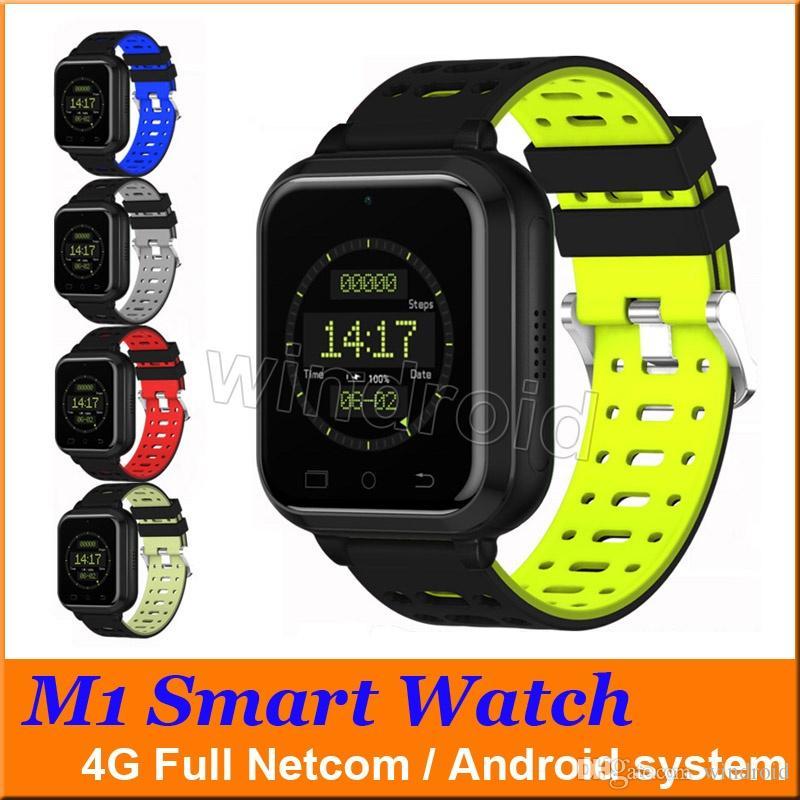 7fcd16e285a Compre Original M1 4G Relógio Inteligente 1.54 Tela TFT HD Android Android  6.0 MTK6737 Quad Core 1 GB 8 GB Sistema Android Heart Rate Cartão SIM  Relógio ...