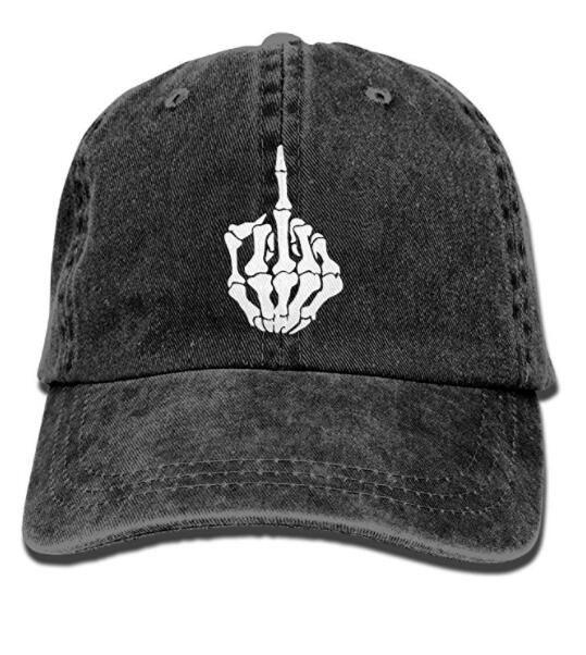 aee18bde Skeleton Middle Finger Vintage Washed Dyed Cotton Adjustable Plain Cowboy Cap  Hat Cap Baseball Cap Online with $14.26/Piece on Hqy86's Store | DHgate.com