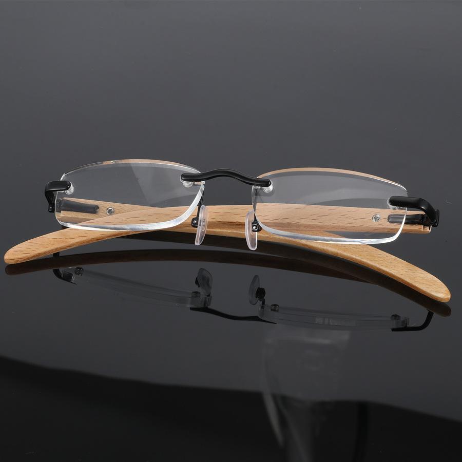 386c3c0e70a641 Acheter Lunettes De Vue Sans Cadre En Bambou Bois Pour Homme Et Femme Oculos  De Grau Masculino Myopia Optical Prescription Eyewear Frames De  23.88 Du  ...
