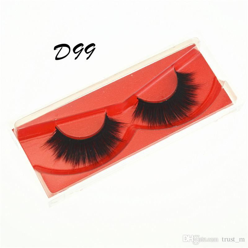 O transporte da gota Mink cílios False Falso Cílios Natural longo da pestana Extensão Grosso Cruz Faux 3d Mink cílios Eye Makeup