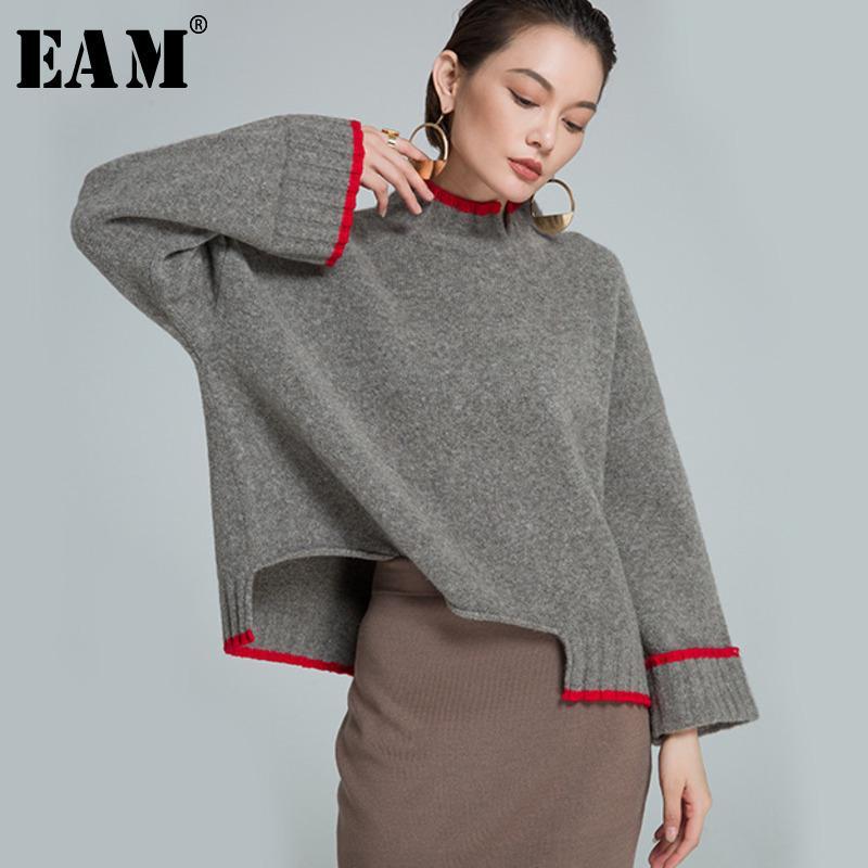 8a667a082d 2018 eam High Quality 2018 Autumn Winter O Neck Loose Panelled Irregular  Hem Fashion New Women S Wild Sweater La750 From Honey333