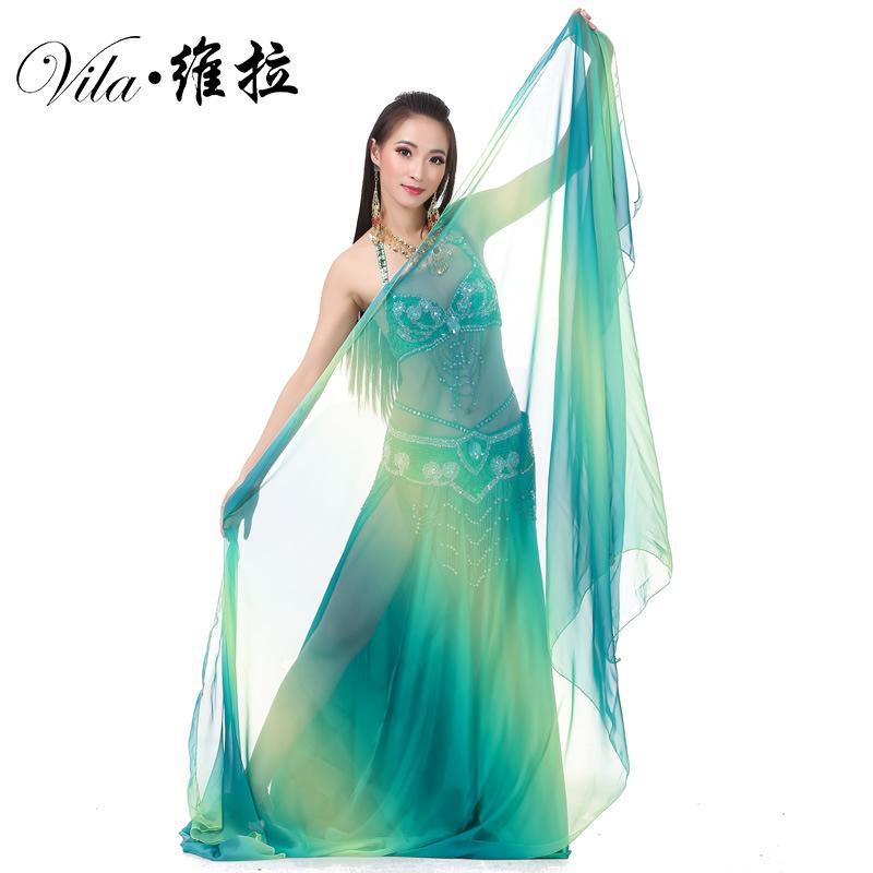 f723a9cd79e Customized Belly Dance Silk Veils 250x120CM Hand Thrown Scarf Shawl  Multi-color Gradient Finish Veil Belly Dancing Cheap Belly Dancing  Customized Belly ...