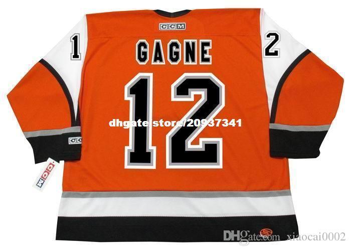 new style 393a3 b65c7 Wholesale Mens SIMON GAGNE Philadelphia Flyers 2006 CCM Alternate Cheap  Retro Hockey Jersey