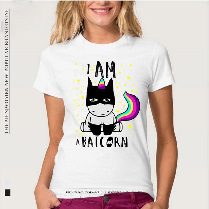 becc0798ad317 9 Styles Funny Unicorn Design Printed T-Shirt Women Girl Fashion ...