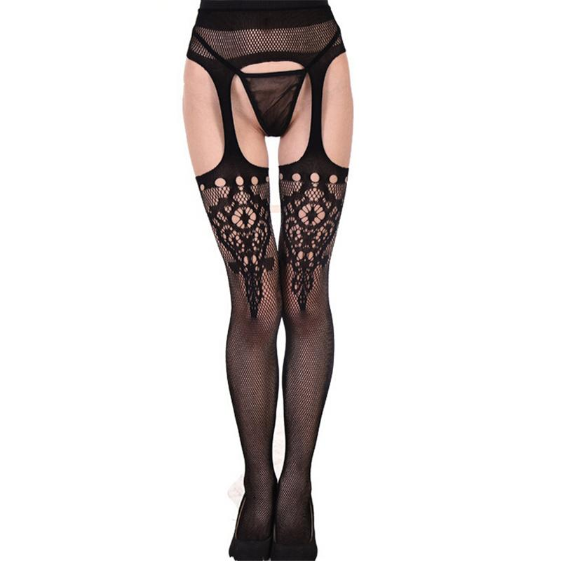 1ec117882 Hot Sale Fashion Sexy Women Tights Solid Suspender Tights Netted ...