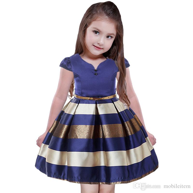 a930dadd6b3c Summer Children Clothes Girls Dress Striped Fashion Princess Tutu ...