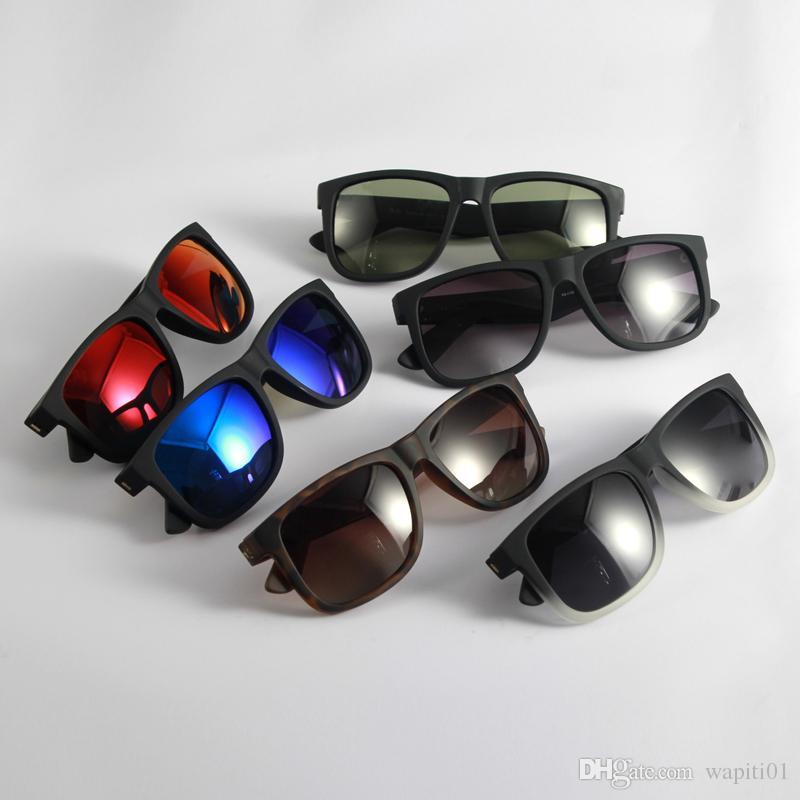 Gafas de sol Moda Justin Sunglass Mens para mujer Gafas de sol de alta calidad para hombre Mujer polarizada UV400 Lentes de protección Caja de cuero Caja de tela Accesorios