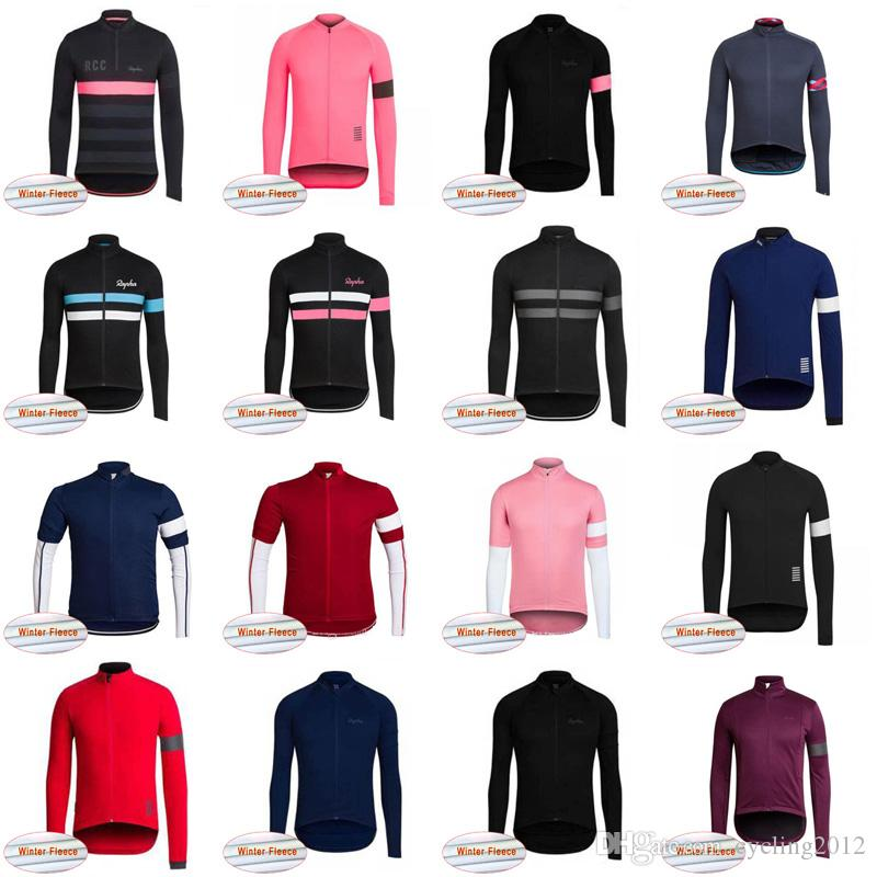 6d6a5ca20 2019 Rapha TEAM Cycling Long Sleeve Jerseys Bike Clothing Men And Women  Winter Thermal Fleece Cycling Wear MTB Clothes 102406J Bike Clothing Bike  Jerseys ...
